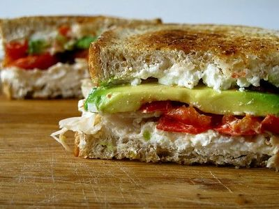 Goat Cheese Avocado Grilled Cheese - Um...YES!!!!