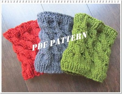 Pattern Cabled Boot Cuffs And Legwarmers Knitted By Frenchst