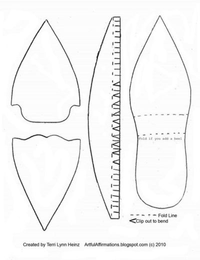 Paper shoe template papercraft juxtapost for How to make paper shoes templates