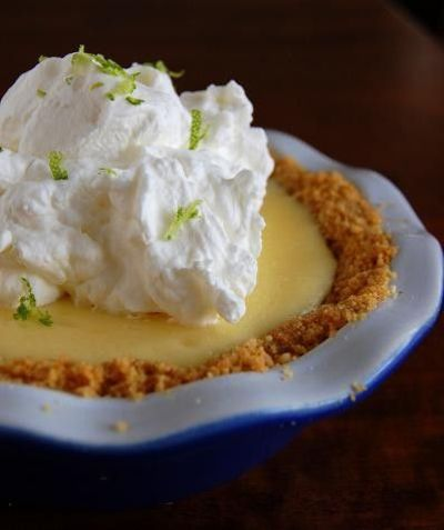 key lime pie with coconut pecan graham crust. / dessert time ...