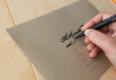 DIY calligraphy for your wedding invitation envelopes is as – Learn Calligraphy Wedding Invitations