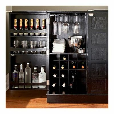 Crate And Barrel Steamer Bar Cabinet   Perfect For Entertaining Because It  Opens And Closes And
