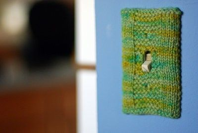 Knit Switch Plate Cover