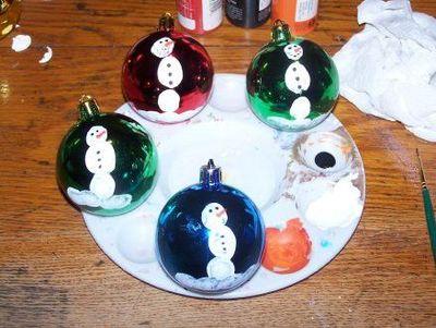 Snowman fingerprint ornaments preschool items juxtapost for Christmas ornaments for kids to make