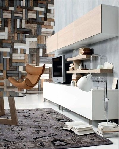 wood stips pallet wall interior via boconcept urban. Black Bedroom Furniture Sets. Home Design Ideas