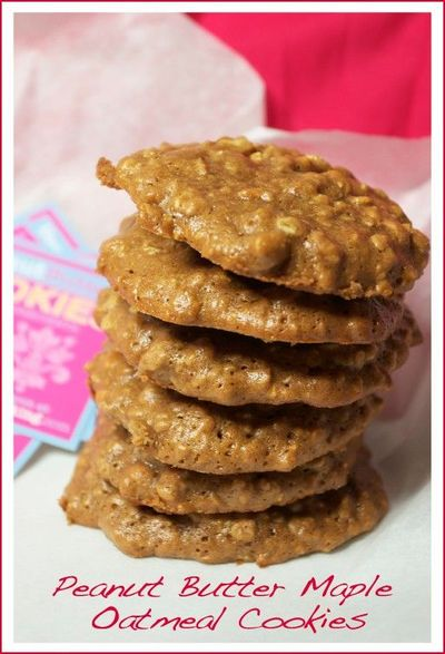 peanut butter maple oatmeal cookies