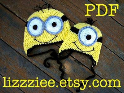 Pdf Minion Hat Crochet Pattern Fun Winter Hat And Easy To