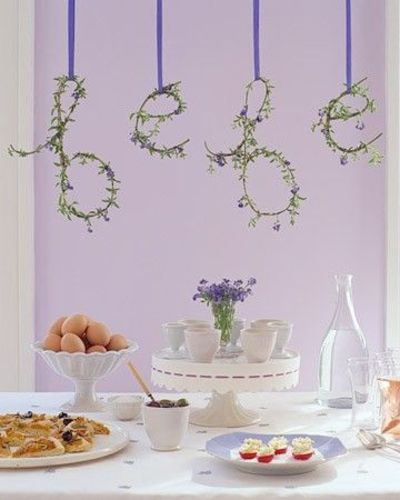 French country baby shower babies things juxtapost - Baby shower decorations martha stewart ...