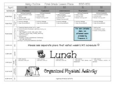 Lesson Plan Template PreK  Elementary  Teaching  Juxtapost
