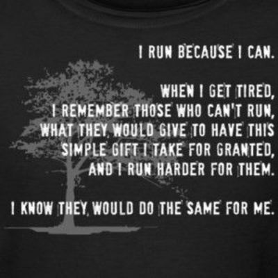 run for those who can't.
