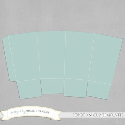 Popcorn box template papercraft juxtapost for Popcorn container template