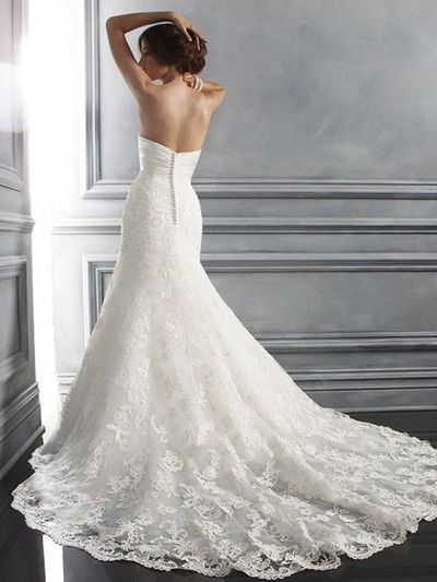 One Of My Ideal Wedding Gowns Lace Fitted With A Long Ski Gowns
