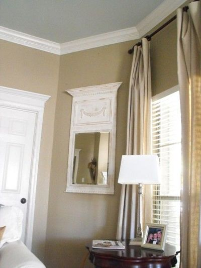 Wall color relaxed khaki by sherwin williams and ceiling for Sherwin williams ceiling paint colors