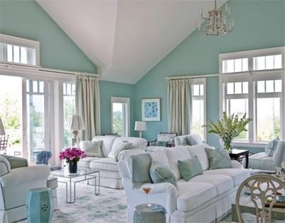 Teal And White Living Room Part 4