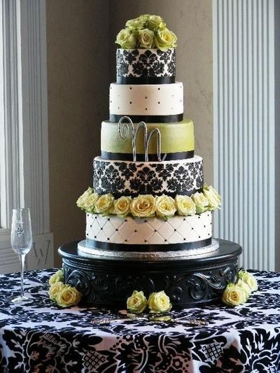 Damask Wedding Cake Boxes