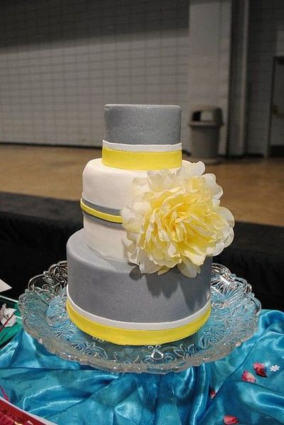 grey and yellow wedding wedding cakes juxtapost