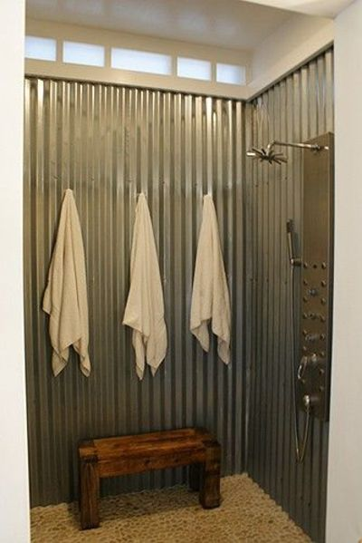 Awesome Shower I Simply Adore Corrugated Sheet Metal