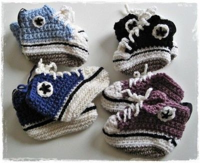 Knitting Pattern Baby Converse : Knitted baby converse / crochet ideas and tips - Juxtapost