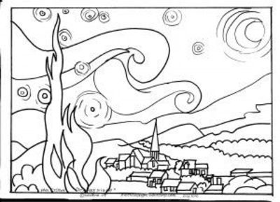tracing outlines of famous paintings coloring sheets great as we