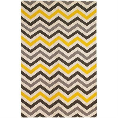 Chevron Rug Yellow Charcoal Gray For The Home Juxtapost