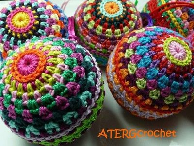 Colorful Christmas ball crochet pattern by ATERGcrochet ...
