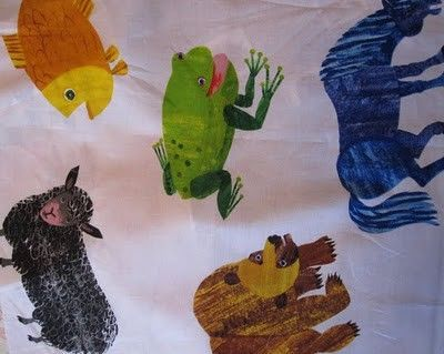 Eric Carle Fabric Shower Curtain For Kids Bathroom