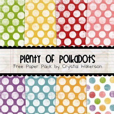 Plenty Of Polka Dots Free Printable Scrapbook Pages Papercraft