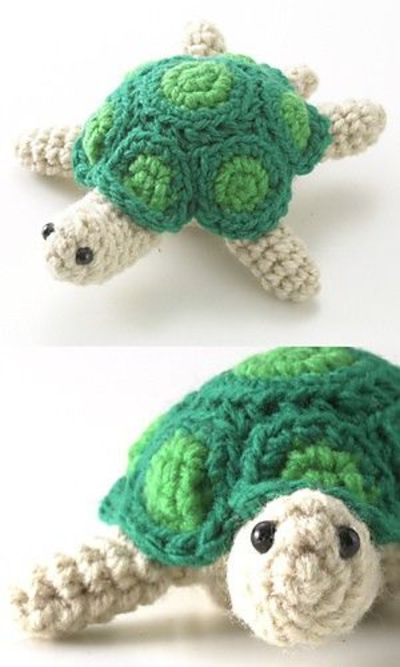 Crochet Pattern Amigurumi Turtle : Amigurumi turtle! #crochet #crochet patterns #crochet ...