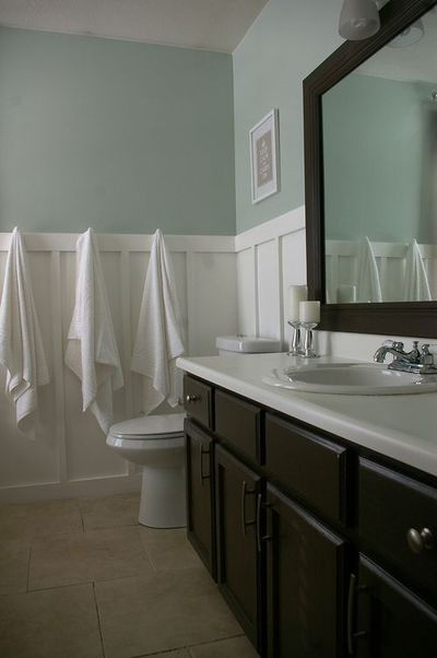 Bathroom Cabinet Paint Color Valsparu0027s Latex Betsy Ross House Brown #6011 2  Paint Is