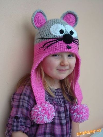 Crochet Kitty Cat Hat Pattern : Gallery For > Crochet Cat Hat