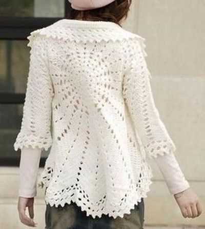 Crochet Jacket Pattern : White Circle Bolero free crochet graph pattern / crochet ideas and ...
