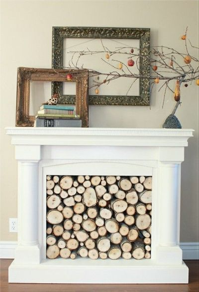 Wood Filled Faux Fireplace For The Home Juxtapost