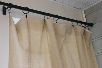 Outdoor Curtain Rods And Dropcloth Curtains For The Home Juxtapost