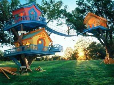 Tree houses...so fun!