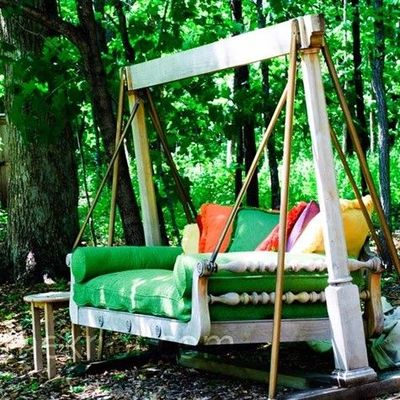 Dishfunctional designs this ain 39 t yer grandma 39 s porch for How to build a swing chair