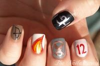 HUNGER GAMES NAILS?!?! if only i were talented enough