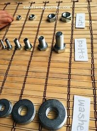 Montessori Nuts and Bolts Activity. Do you incorporate Montessori based activities in your daily play/lessons plans?