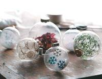 Christmas balls ornaments with tinsel from freshhomeideas.com