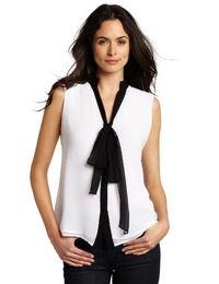 Jones New York Women's Bow Blouse
