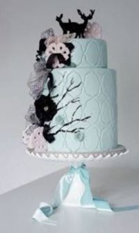 "Blue ""Enchanted Forest"" Animal Cake by Opera Cakes"