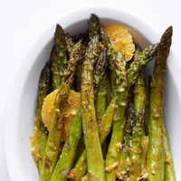 To make our Roasted Asparagus-Orange Salad, toss Asparagus spears in a tangy orange-fennel seed dressing after they've been removed from the oven.