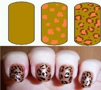 How to do Leopard Print Nail Art Designs