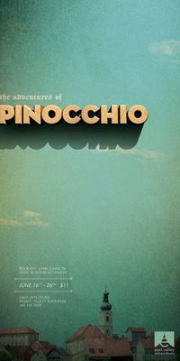 The Adventures of Pinocchio poster for the East Valley Children's Theatre by TunnelBravo