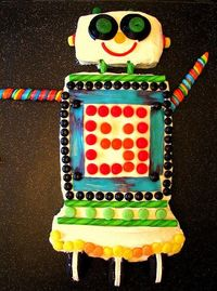 Robot birthday cake!