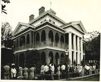 Vintage photo of the Haunted Mansion In Disneyland