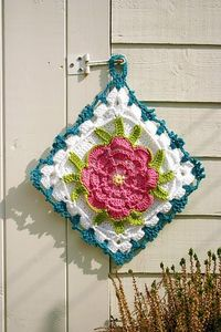 crochet hotpad or potholder from Japanese pattern book