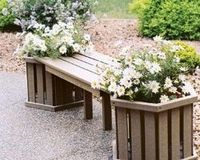 Planters & Garden Items - Year around planter boxes don't require a liner, plant directly in to them or put pots inside. These faux wood planters have weep holes in the bottom allow for drainage. Several stock sizes or call for a quote on a custom...