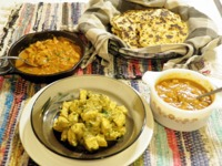 Indian Food With Homemade Naan: After trying Indian food for the first time, I wanted to try making it at home. Part homemade, part...[read more at Food Frenzy]