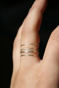 Sterling silver stacking rings set of 5 from Etsy $24