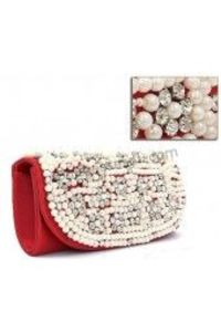 Pearl And Crystal Evening Party Clutch
